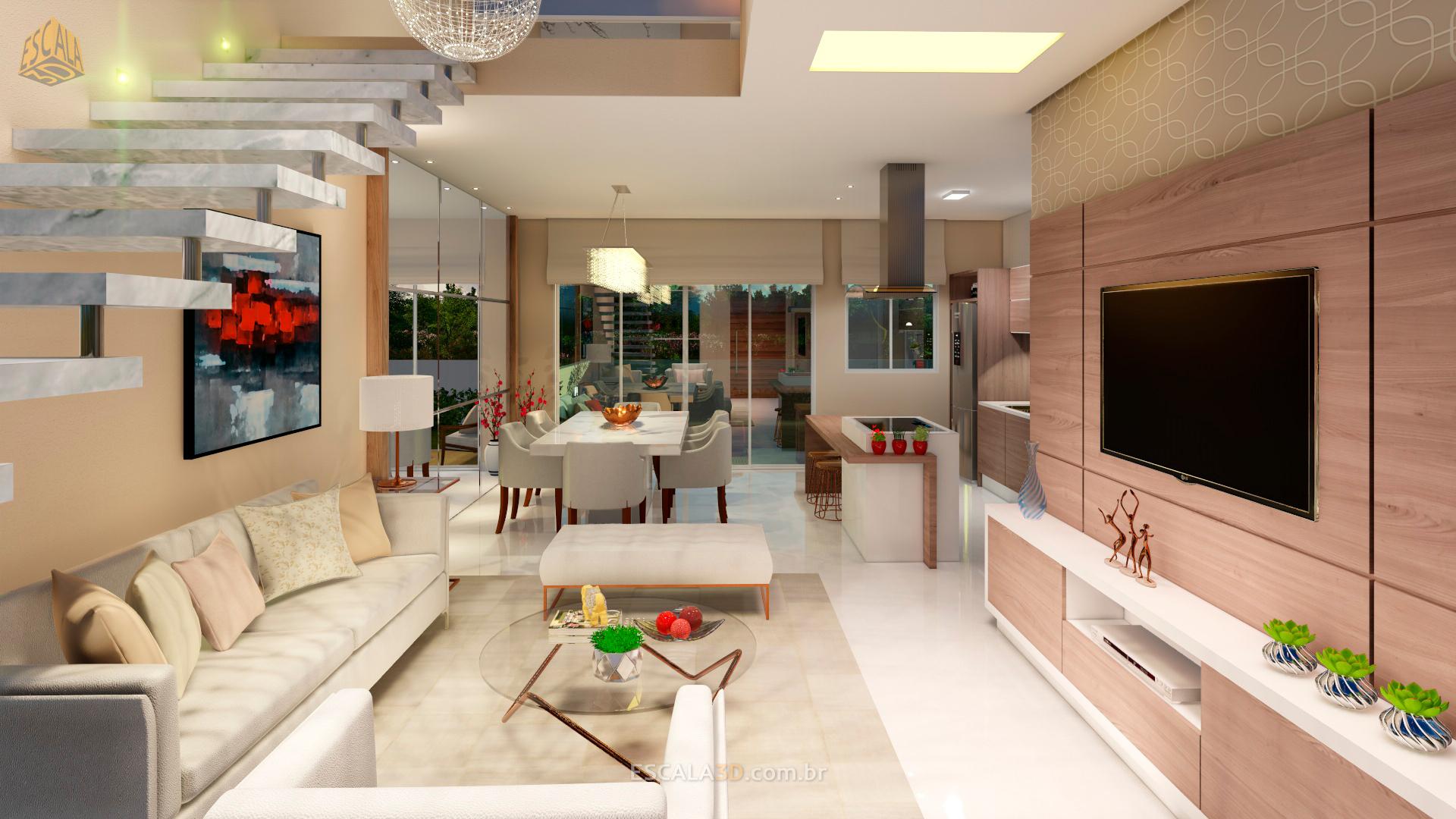 Sala decorada 3D