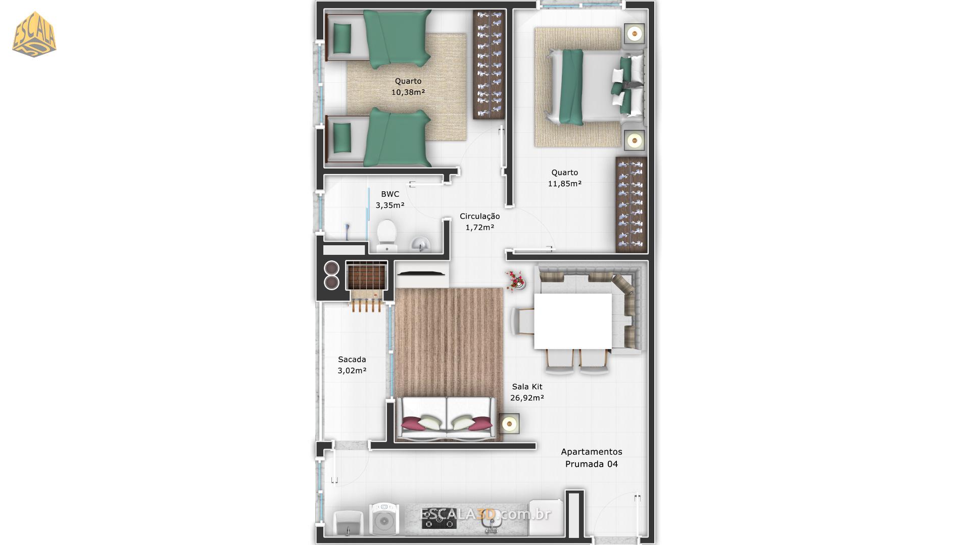 Apartamento Canto Alemão