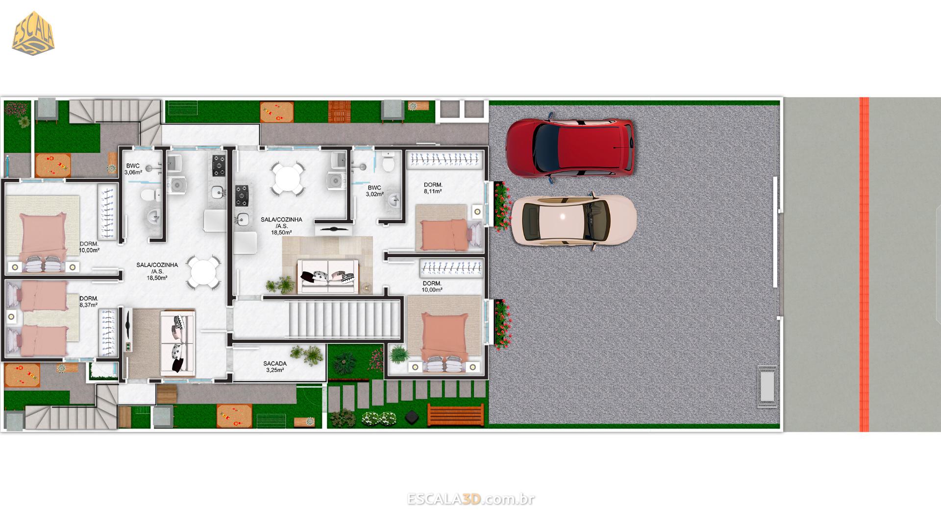 apartamentos com Quintal