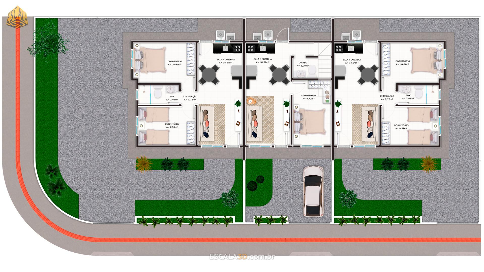 3 Casas de Esquina