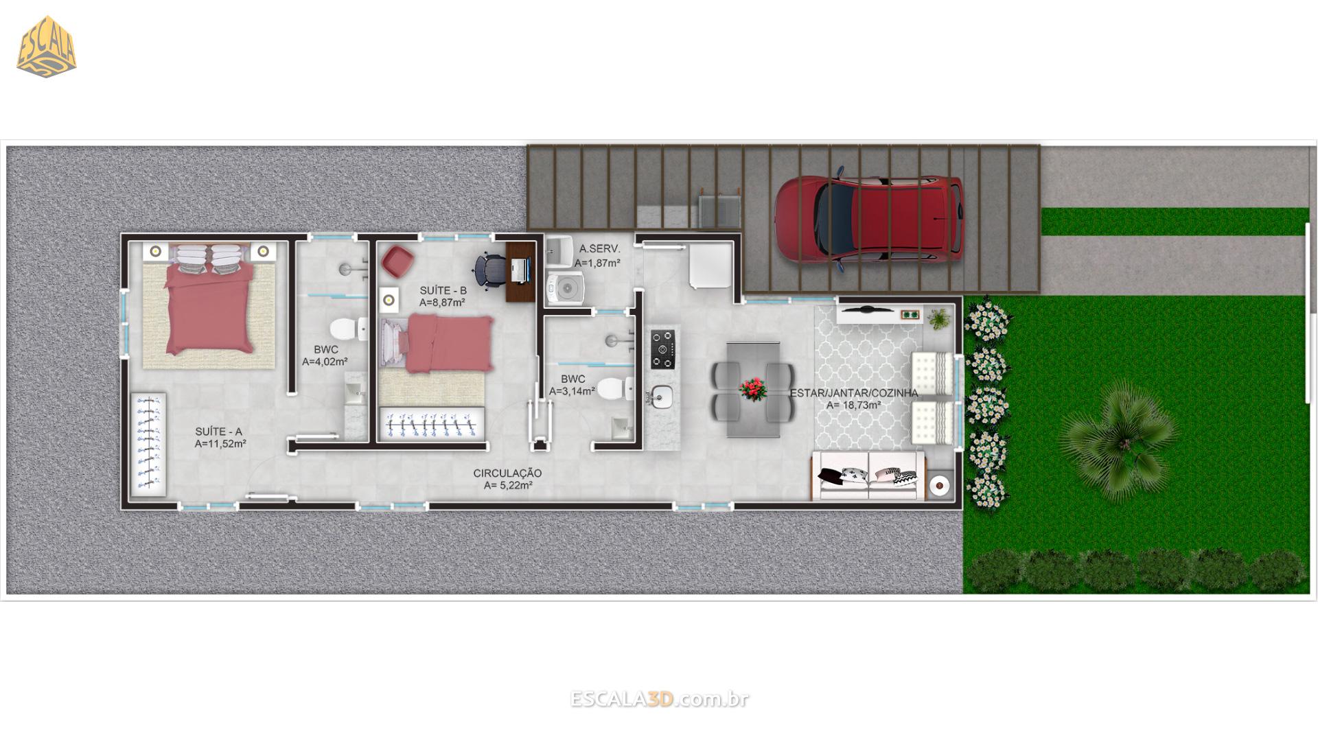 Casa 2 Suítes